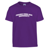 Youth Purple T Shirt-Arched Prairie View A&M