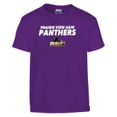 Youth Purple T Shirt-Stacked Prairie View A&M Panthers