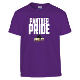 Youth Purple T Shirt-Panther Pride