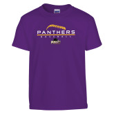 Youth Purple T Shirt-Baseball Design