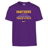 Youth Purple T Shirt-Track & Field Design