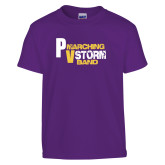 Youth Purple T Shirt-PV Marching Storm Band
