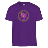 Youth Purple T Shirt-PVAM Marching Band Seal