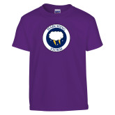 Youth Purple T Shirt-Marching Storm Cloud Circle