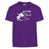 Youth Purple T Shirt-Future Black Fox