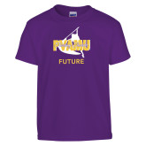 Youth Purple T Shirt-Future Twirling Thunder