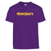 Youth Purple T Shirt-#StormMacys