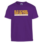 Youth Purple T Shirt-Old School w/ Cloud