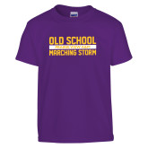 Youth Purple T Shirt-Old School Marching Storm Stacked