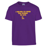 Youth Purple T Shirt-The Storm To NYC w/ Cloud