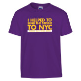 Youth Purple T Shirt-The Storm To NYC Stacked