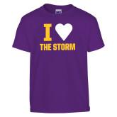 Youth Purple T Shirt-I Heart The Storm