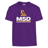 Youth Purple T Shirt-MSD w/ PVAM Logo