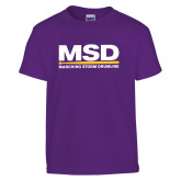 Youth Purple T Shirt-MSD