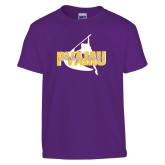 Youth Purple T Shirt-PVAMU Twirling Thunder Logo