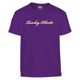 Youth Purple T Shirt-PVAMU Twirling Thunder Logo