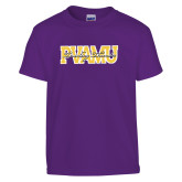 Youth Purple T Shirt-PVAMU Twirling Thunder Overlap