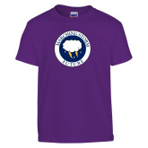 Youth Purple T Shirt-Marching Storm Cloud Circle - Future