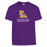 Youth Purple T Shirt-PVAM Stacked