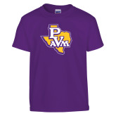 Youth Purple T Shirt-PVAM Texas