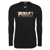 Under Armour Black Long Sleeve Tech Tee-PVAMU
