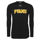 Under Armour Black Long Sleeve Tech Tee-Arched PVAMU