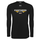 Under Armour Black Long Sleeve Tech Tee-Football Design