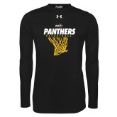 Under Armour Black Long Sleeve Tech Tee-Basketball Design