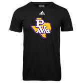 Adidas Climalite Black Ultimate Performance Tee-PVAM Texas