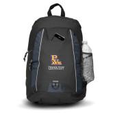 Impulse Black Backpack-PVAM Stacked