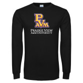 Black Long Sleeve T Shirt-PVAM Stacked