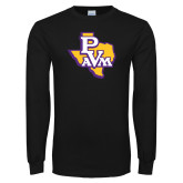 Black Long Sleeve T Shirt-PVAM Texas