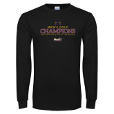 Black Long Sleeve T Shirt-2018 Mens Golf Champions