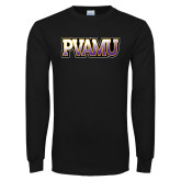 Black Long Sleeve TShirt-PVAMU