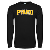 Black Long Sleeve TShirt-Arched PVAMU