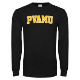 Black Long Sleeve TShirt-Arched PVAMU