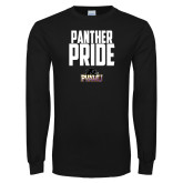 Black Long Sleeve TShirt-Panther Pride