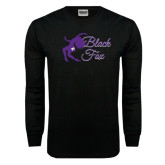 Black Long Sleeve TShirt-Black Fox Logo