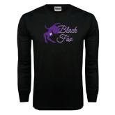 Black Long Sleeve TShirt-Black Fox Logo