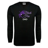 Black Long Sleeve TShirt-Black Fox Dad