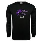 Black Long Sleeve TShirt-Black Fox Dad