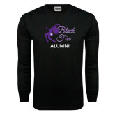 Black Long Sleeve TShirt-Black Fox Alumni
