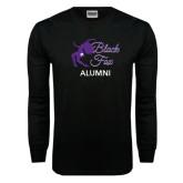Black Long Sleeve TShirt-Black Fox Alumni