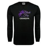 Black Long Sleeve TShirt-Black Fox Grandpa