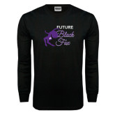 Black Long Sleeve TShirt-Future Black Fox