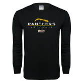 Black Long Sleeve T Shirt-Softball Design