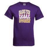 Purple T Shirt-Praire View marching Storm w/ Majors