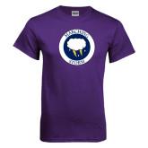 Purple T Shirt-Marching Storm Cloud Circle