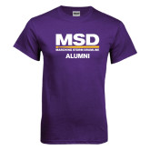 Purple T Shirt-MSD Alumni