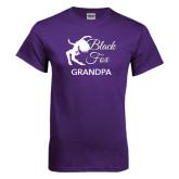 Purple T Shirt-Black Fox Grandpa